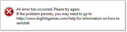 Error When Opening Big Fish Games App (Game Manager) – Big