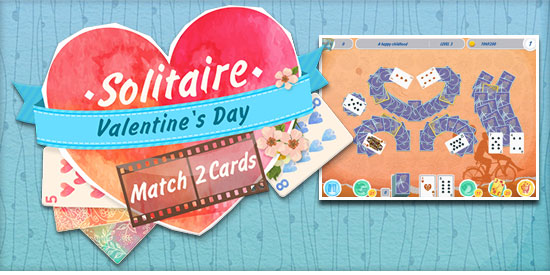 Card U0026 Board Game   New Release Solitaire Match 2 Cards Valentineu0027s Day   A  Card Game And A Love Story. 120 New Deals For Lovebirds Are All Yours!