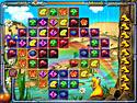 in-game screenshot : A-B-O-O (pc) - Reihe in Aboo Kristalle aneinander.