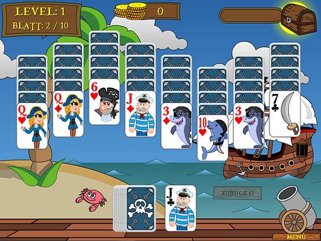 Pirate Solitaire - Folge einer Piratenkarte!