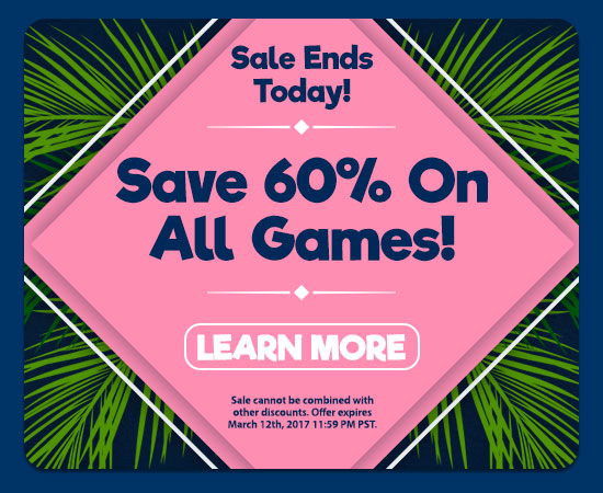 Don't miss 60% off!
