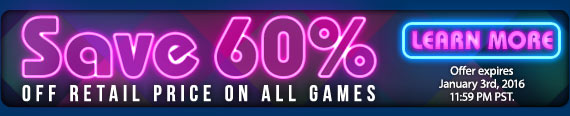 All Games 60% Off