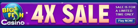 Big Fish Casino 4x Sale