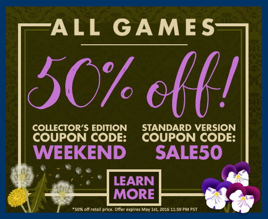 50% off all games!