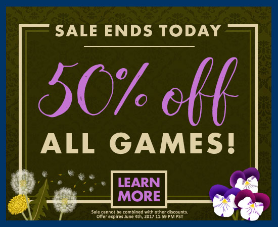 Last Day for 50% Off ALL Games!
