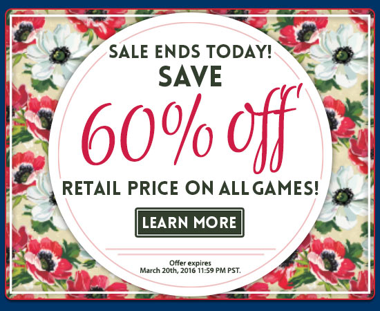 Last chance to save 60% on all games!