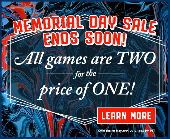 ALL Games are Two for the price of One!