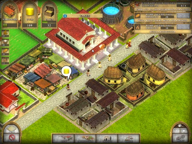 Ancient Rome 2 - Build large cities with roads and developed economies!