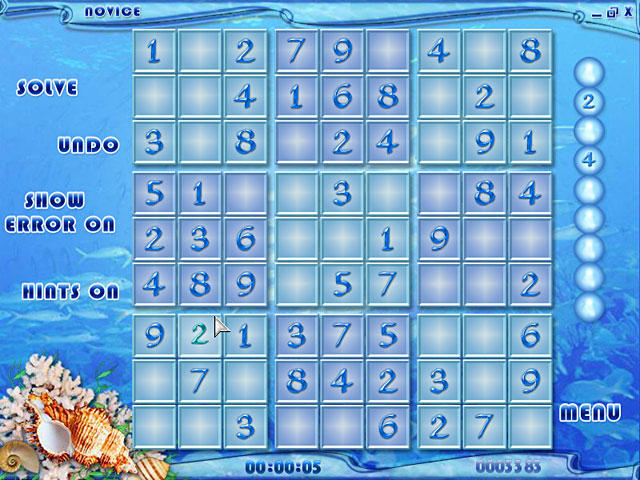Blue Reef Sudoku Screenshot http://games.bigfishgames.com/en_bluereefsudoku/screen2.jpg