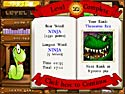 in-game screenshot : Bookworm Deluxe (mac) - Can you feed the bookworm?