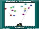 Burst bubbles with cannon power!