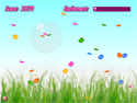 Capture butterflies in bubbles!