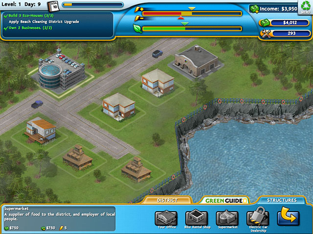 Big fish games build it green back to the beach for Big fish games facebook