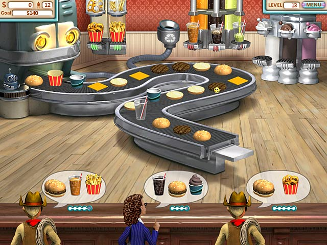 play burger shop online