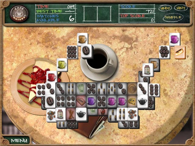 Click To Download Cafe Mahjongg