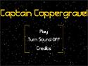in-game screenshot : Captain Coppergravel (og) - Dodge the asteroid onslaught!