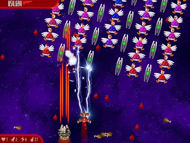 Chicken Invaders: Ultimate Omelette Christmas Edition Screenshot http://games.bigfishgames.com/en_chicken-invaders-4-christmas-edition/screen2.jpg
