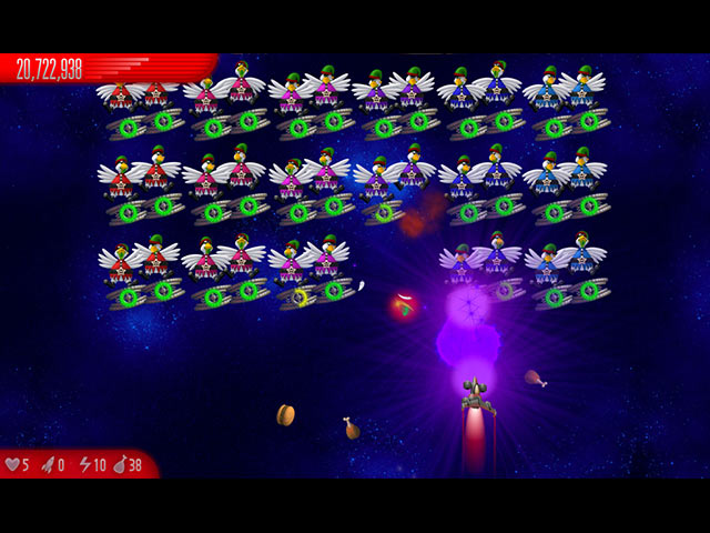 Big fish games chicken invaders 5 christmas edition for Big fish games facebook