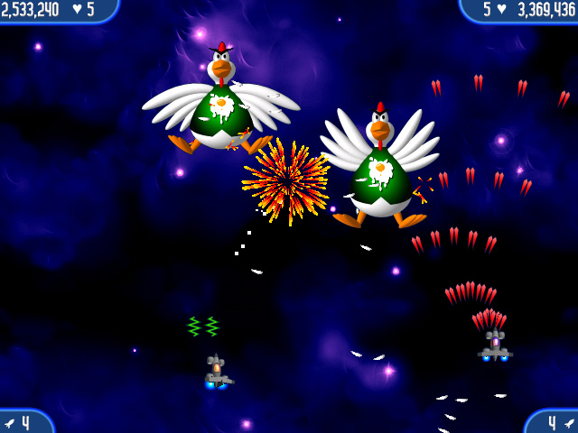 Chicken Invaders 2 Screenshot http://games.bigfishgames.com/en_chickeninvaders2/screen1.jpg