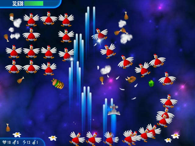Chicken Invaders 3 Christmas Edition Screenshot http://games.bigfishgames.com/en_chickeninvaders3ch/screen2.jpg