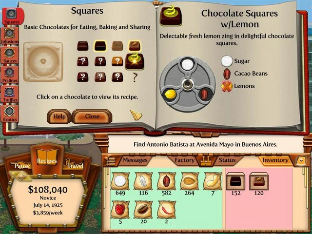Chocolatier 2: Secret Ingredients Screenshot http://games.bigfishgames.com/en_chocolatier-2-secret-ingredients/screen2.jpg