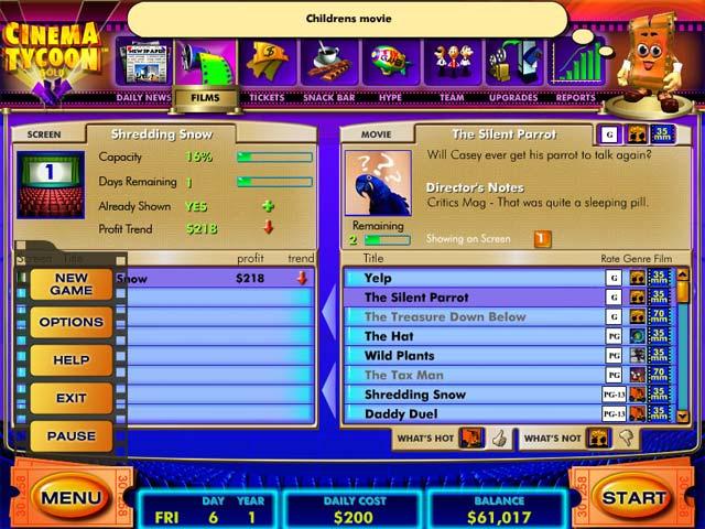 Cinema Tycoon Screenshot http://games.bigfishgames.com/en_cinematycoon/screen1.jpg