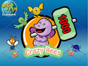 in-game screenshot : Crazy Bees (og) - Shoot down the Crazy Bees!