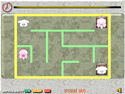 in-game screenshot : Cute Creatures in a Perfect Maze (og) - Help the Cute Creatures escape!