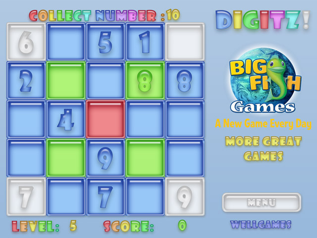 Digitz flash online games at for Big fish games phone number