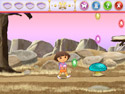 in-game screenshot : Dora Saves the Crystal Kingdom (pc) - A Greedy King has stolen the crystals that give color to the Crystal Kingdom!