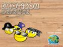 in-game screenshot : Emoticon Defense (og) - Defend a town using emoticons!