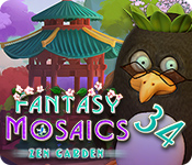Buy PC games online, download : Fantasy Mosaics 34: Zen Garden
