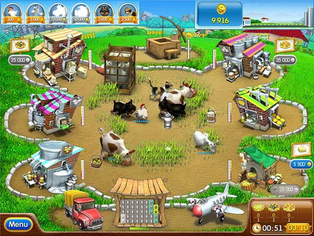 Farm frenzy pizza party game download and play free version for Fish farm games