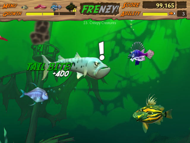 Feeding frenzy deluxe 2 comet share for The fish game