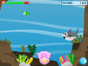 in-game screenshot : Fish Me (og) - Help free a pearl from a shark!