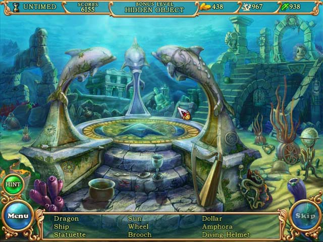 Gra Hidden Wonders of the Depths 3: Atlantis Adventures Gra Bezpłatne