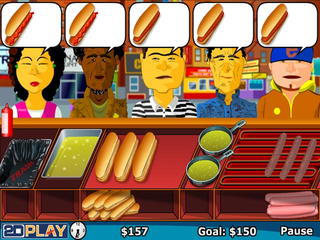 george w bush hot dog game