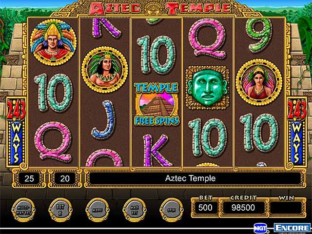 Aztec temple slot machine play online