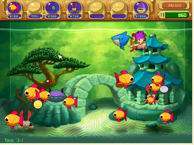Insaniquarium! Deluxe Screenshot http://games.bigfishgames.com/en_insaniquarium/screen1.jpg