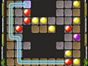 in-game screenshot : Jewel Lines (og) - Match the marbles to clear the level!