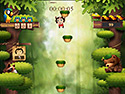 in-game screenshot : Jumping Monkey (og) - Leap your way to the jungle roof!