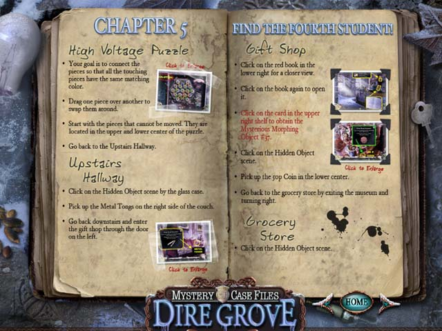 Mystery Case Files®: Dire Grove  Strategy Guide Screenshots