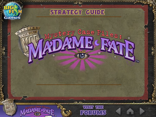 Click To Download Mystery Case Files: Madame Fate ™ Strategy Guide