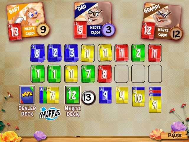 Nertz Solitaire Screen Shot