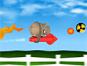 in-game screenshot : Pig on the Rocket (og) - Help the Pig on the Rocket escape!