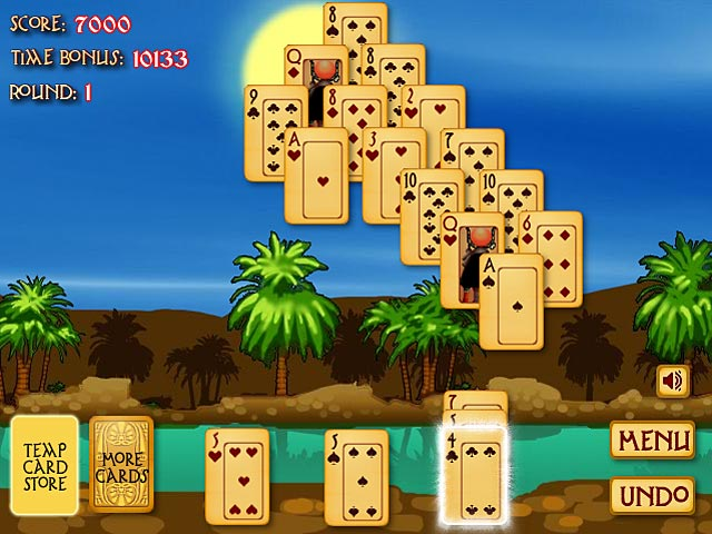 solitaire egyptian pyramid