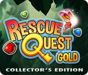 Join Boom and Zap and clear a path in Rescue Quest Gold - a premium match-3 game with 260+ magical levels!