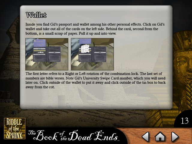 Click To Download Riddle of the Sphinx Strategy Guide