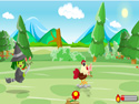 in-game screenshot : Run Chicken Run (og) - Escape a witch and Run Chicken Run!