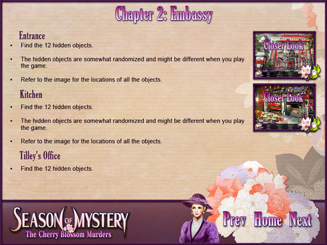 Season of Mystery: The Cherry Blossom Murders Strategy Guide - Irene must solve her husband's murder!